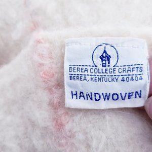 Vintage Bedding - Vtg Berea College Crafts Hand Woven Throw 49 x 43